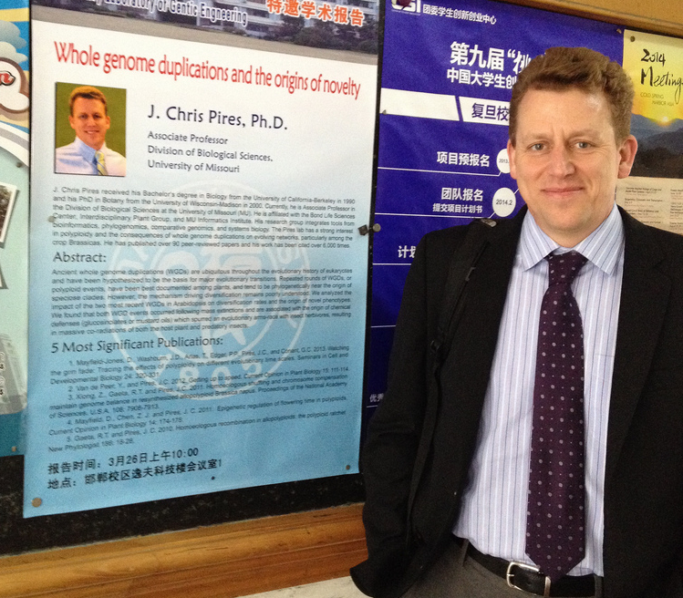 Chris Pires, investigator and associate professor in biological sciences at the Bond Life Sciences Center at Fudan University in Shanghai.